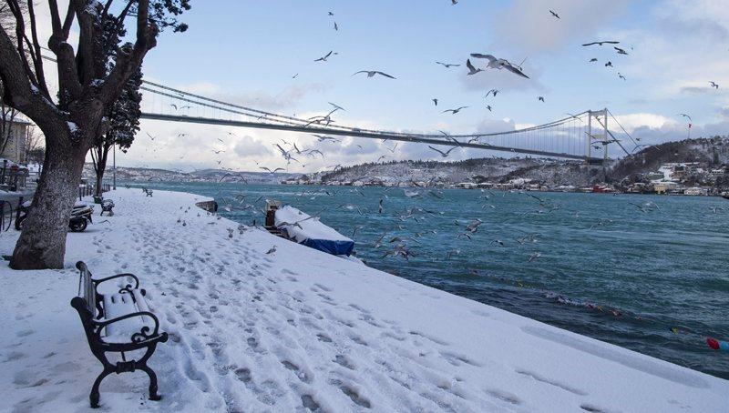Χιονοθύελλα παραλύει την Κωνσταντινούπολη- 500 ακυρώσεις πτήσεων