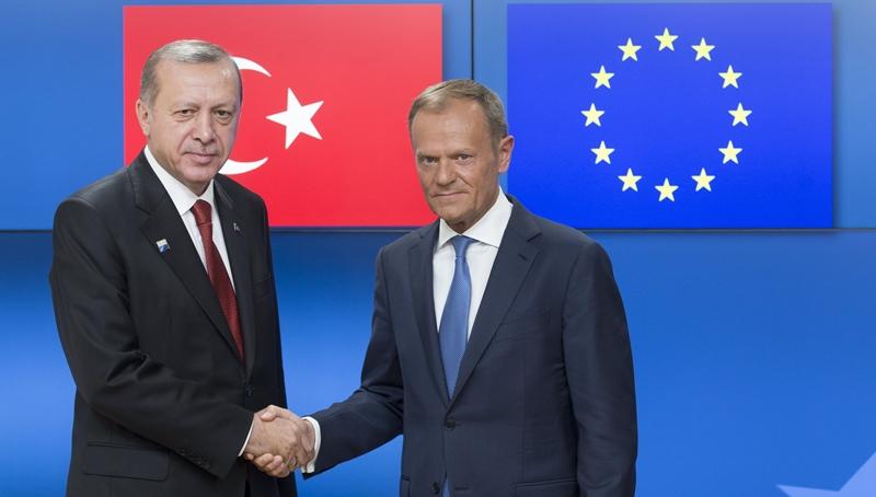 Συνάντηση Ερντογάν με Τουσκ-Γιούνκερ