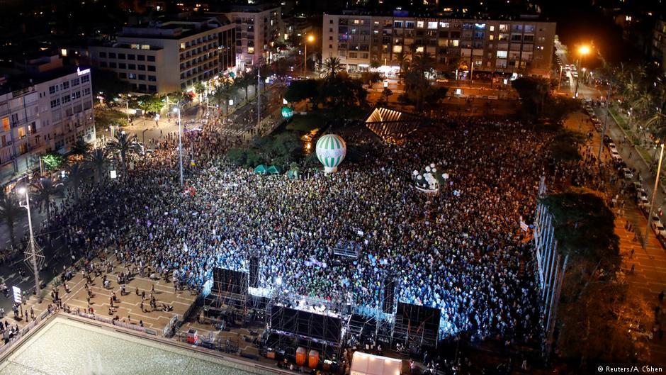 Συγκέντρωση στο Τελ Αβίβ υπέρ της ύπαρξης δύο κρατών