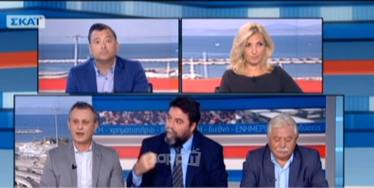 Καβγάς στον «αέρα» του ΣΚΑΪ – Βουλευτής του ΣΥΡΙΖΑ έφυγε εκνευρισμένος  (Video)