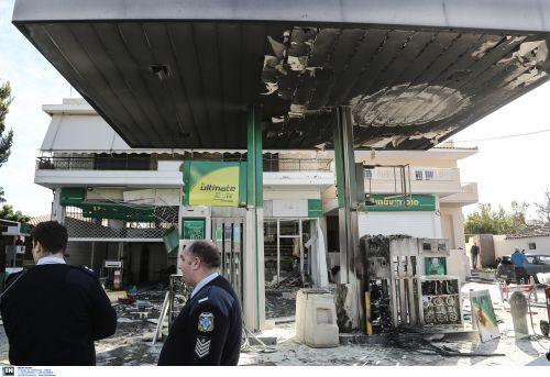 Μεγάλη έκρηξη στο πρατήριο του προέδρου της Ομοσπονδίας Βενζινοπωλών  (Photos)