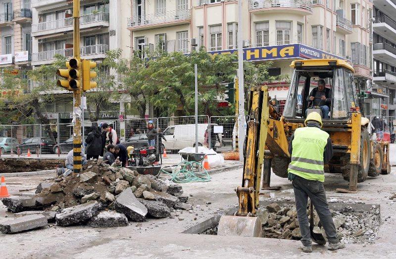 Κυκλοφοριακές ρυθμίσεις στο κέντρο της Θεσσαλονίκης λόγω έργων