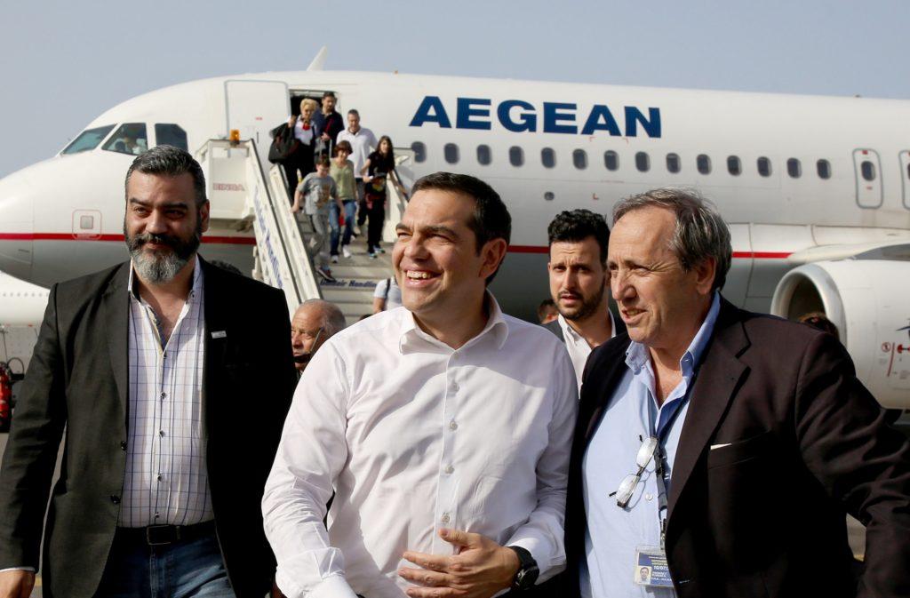 Στο Ηράκλειο ο Τσίπρας για την αποψινή του ομιλία (Photos + Video)