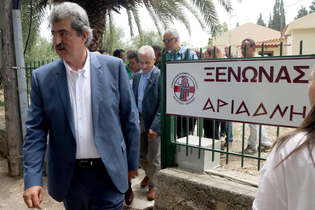Ξενώνα για τους συγγενείς ασθενών και νέο μαστογράφο εγκαινίασε στο Ηράκλειο ο Πολάκης (Photos & Video)