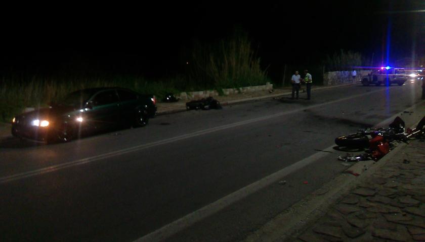 Φοβερό τροχαίο με μηχανές μεγάλου κυβισμού στη Λέσβο – Νεκροί δύο νέοι και μία κοπέλα (Video)