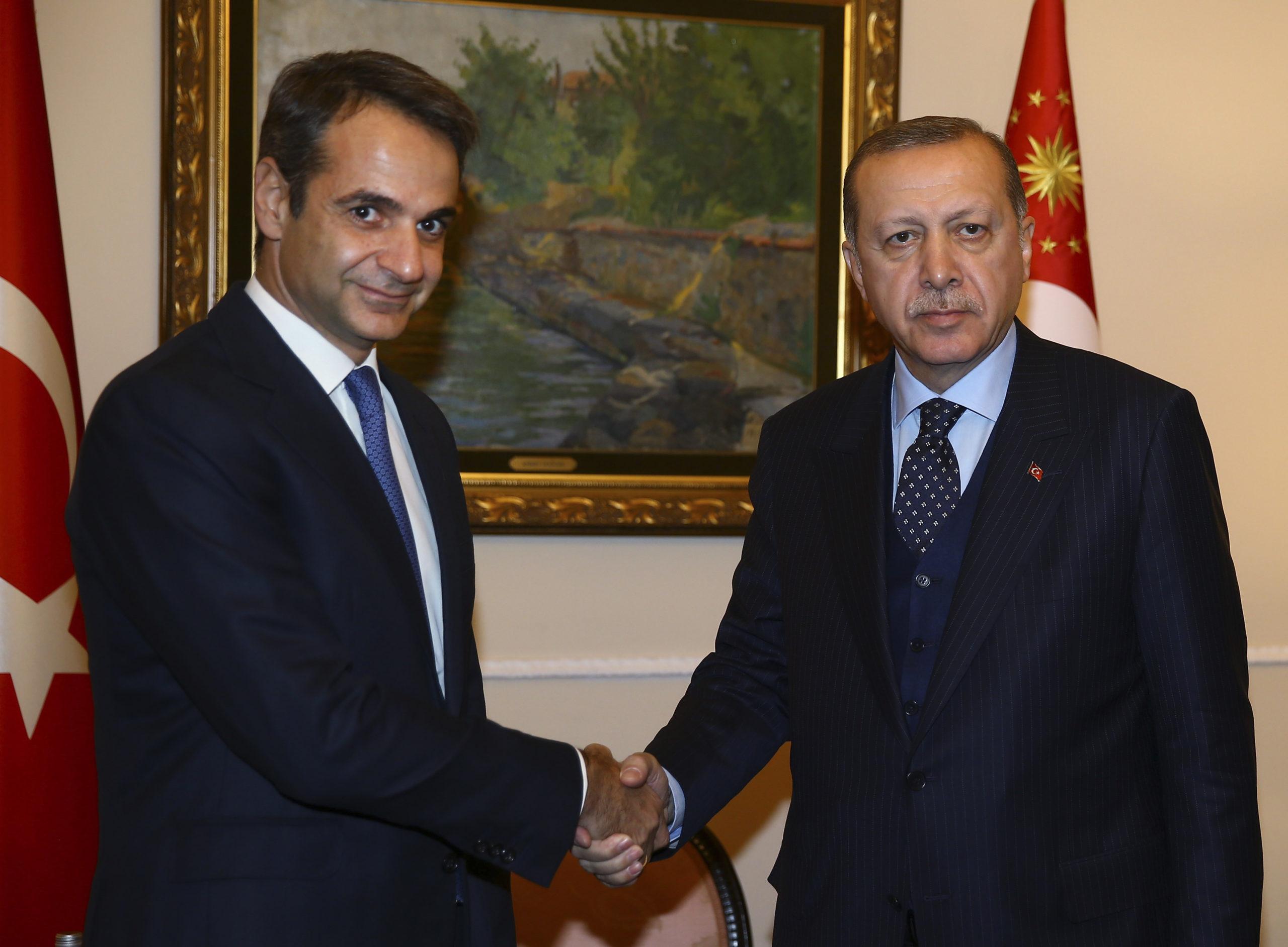 Βήμα για την βελτίωση των ελληνοτουρκικών σχέσεων η συνάντηση Μητσοτάκη Ερντογάν για την ελληνική κυβέρνηση