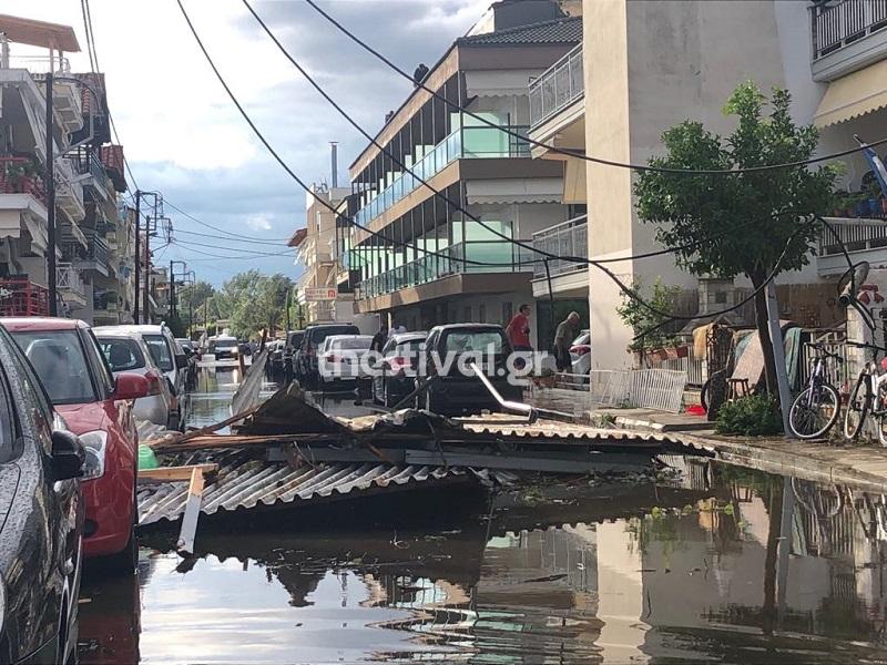 Χωρίς ρεύμα το 80% του νομού Χαλκιδικής μετά την φονική καταιγίδα