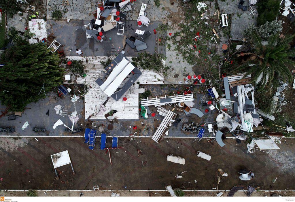 Η καταστροφή από τη φονική καταιγίδα στη Χαλκιδική από ψηλά (Photos)