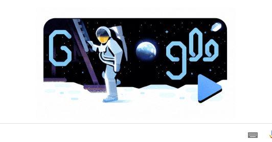 Στη διαστημική αποστολή Apollo 11 αφιερωμένο το doodle της Google