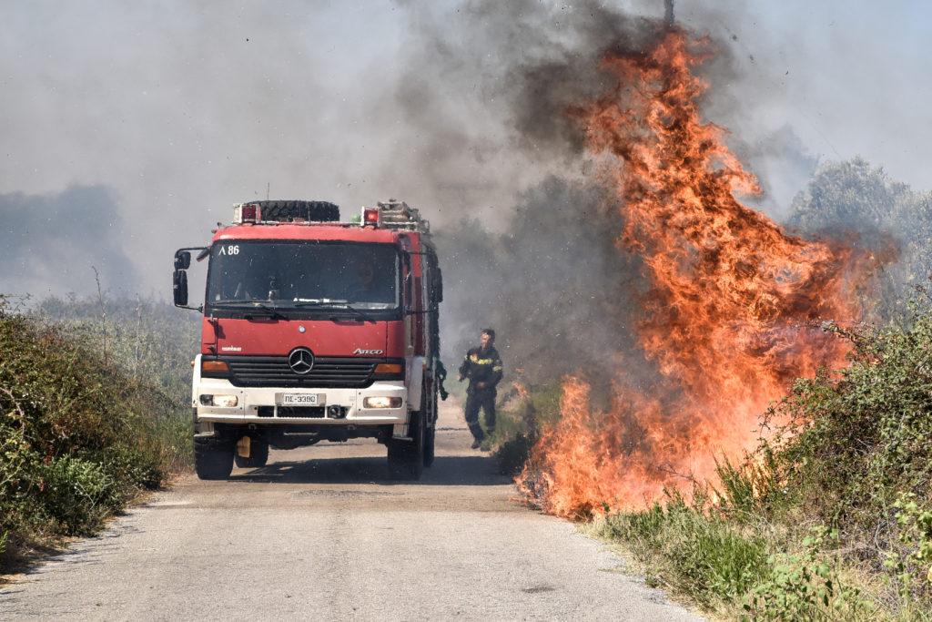 Πυρκαγιά στο Αγιονόρι Κορινθίας