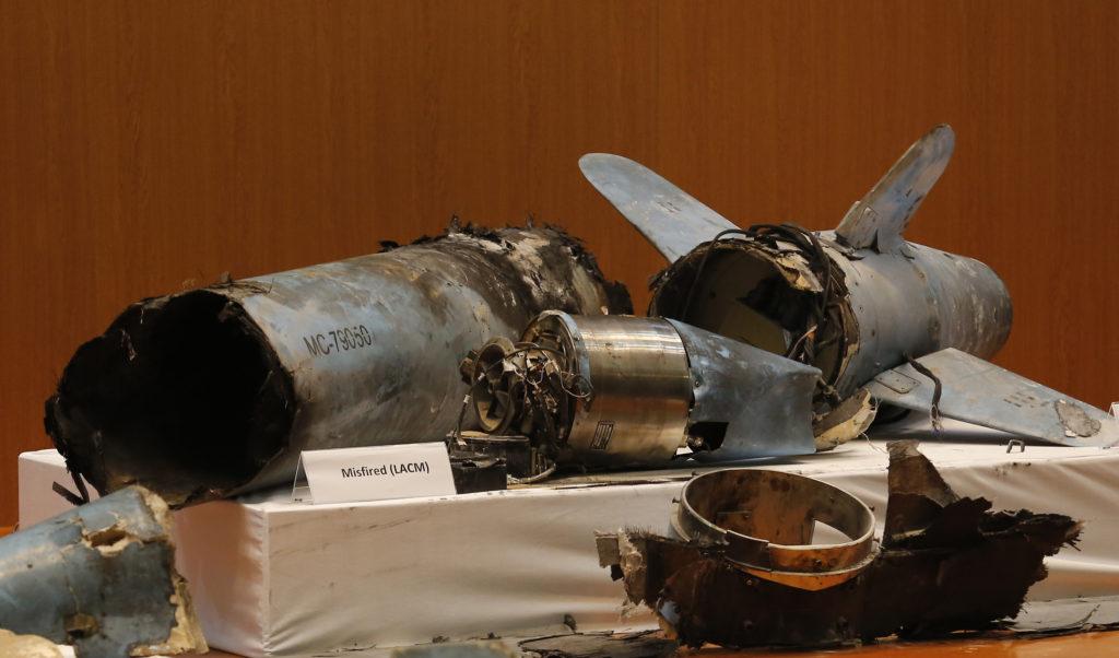 Συντρίμμια ιρανικών πυραύλων και drones παρουσίασαν οι αρχές της Σαουδικής Αραβίας