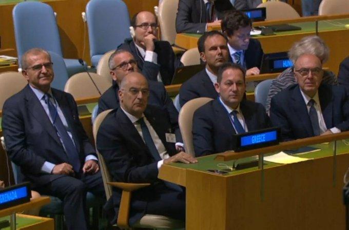 Μετά την κατακραυγή απέσυραν τη σύζυγο του πρωθυπουργού από τα έδρανα του ΟΗΕ (Photos)