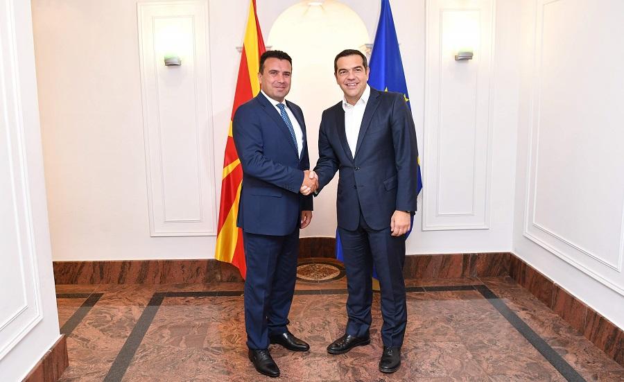 Συνάντηση Τσίπρα-Ζάεφ: «Ήρθε η ώρα η ΕΕ να δώσει πράσινο φως» στην έναρξη ενταξιακών διαπραγματεύσεων