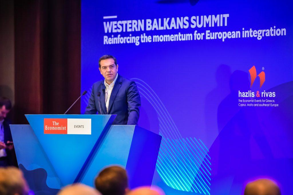 Τσίπρας στο συνέδριο του Economist: Η Ελλάδα να αναλάβει ηγετικό ρόλο στα Βαλκάνια