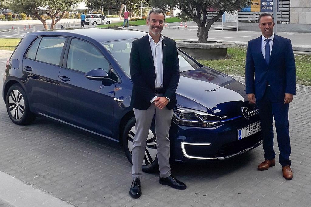 O Δήμαρχος Θεσσαλονίκης κινείται με VW e-Golf