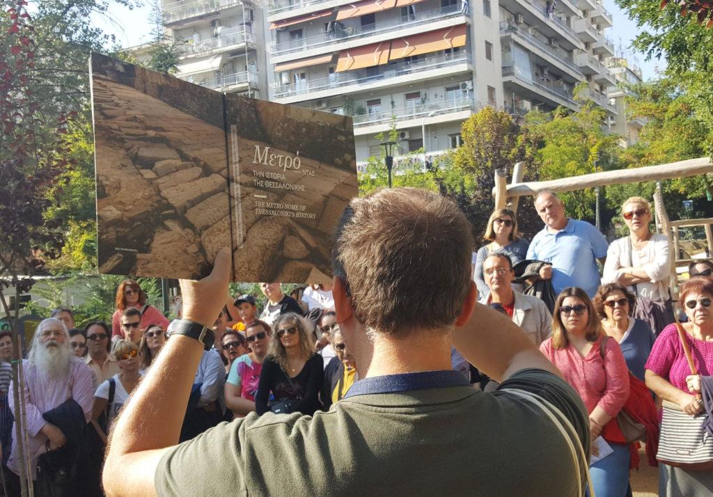 Θεσσαλονίκη: Mαζική συμμετοχή σε ξενάγηση σε μνημεία της «υπόγειας πόλης» που αποκάλυψε το μετρό (Photos)