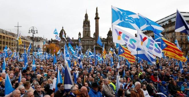 Μεγάλη διαδήλωση στη Σκωτία υπέρ της ανεξαρτησίας (Video)