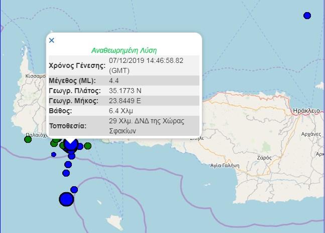 Κρήτη: Πάνω από τριάντα σεισμοί από το πρωί – Χρειάζεται παρακολούθηση δήλωσε ο Γ. Παπαδόπουλος