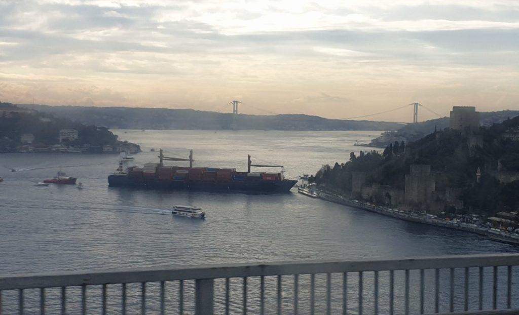 Κωνσταντινούπολη: Πλοίο προσέκρουσε στην ακτή του Βοσπόρου (Video)