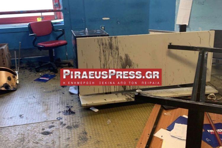 Πανεπιστήμιο Πειραιά: Επίθεση κουκουλοφόρων «ισοπέδωσε» τα γραφεία της ΔΑΠ (Video)