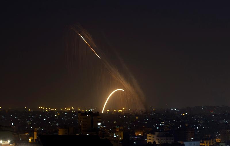 Δέσμη ρουκετών εκτοξεύθηκε από την Λωρίδα της Γάζας κατά του Ισραήλ