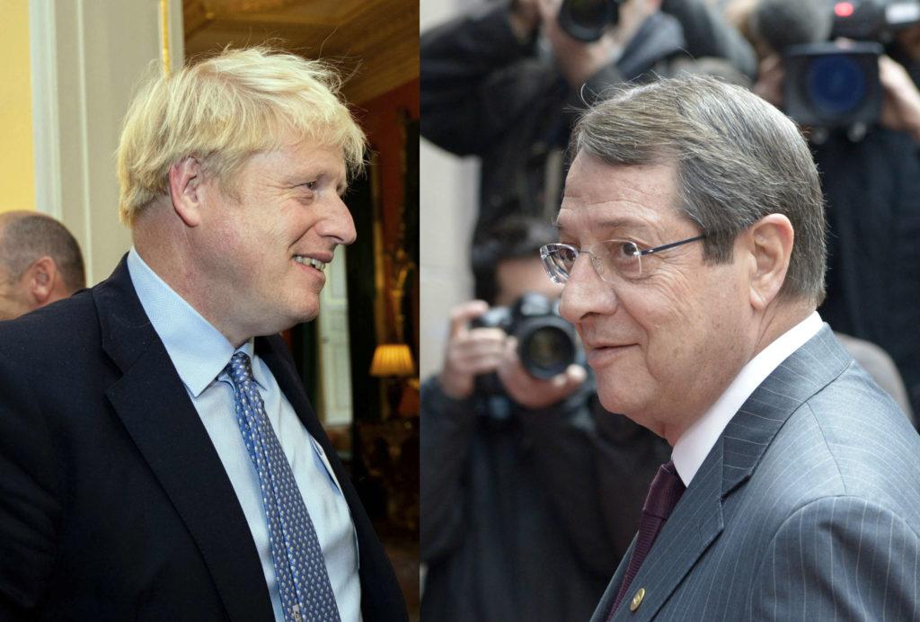 Για Brexit και ΑΟΖ συζήτησαν Τζόνσον-Αναστασιάδης σε τηλεφωνική επικοινωνία