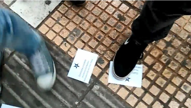 Εισβολή του Ρουβίκωνα στο «Τζάμπο» Παγκρατίου (video)