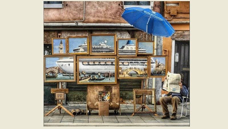 Ο Banksy έστησε πάγκο στη Βενετία (video)