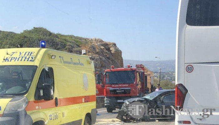Κρήτη: Νέο τροχαίο δυστύχημα με μία νεκρή και τρεις τραυματίες (video)