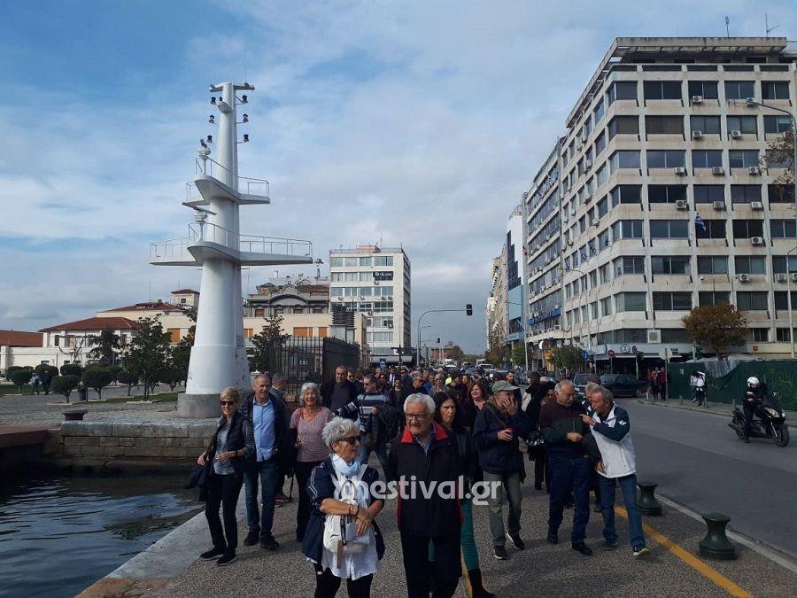 Θεσσαλονίκη: Πορεία Σιωπηλής Συγγνώμης προς τους Εβραίους της πόλης (εικόνες – video)