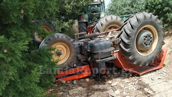 Λαμία: Τρακτέρ  καταπλάκωσε και σκότωσε δύο αγρότες (εικόνες)