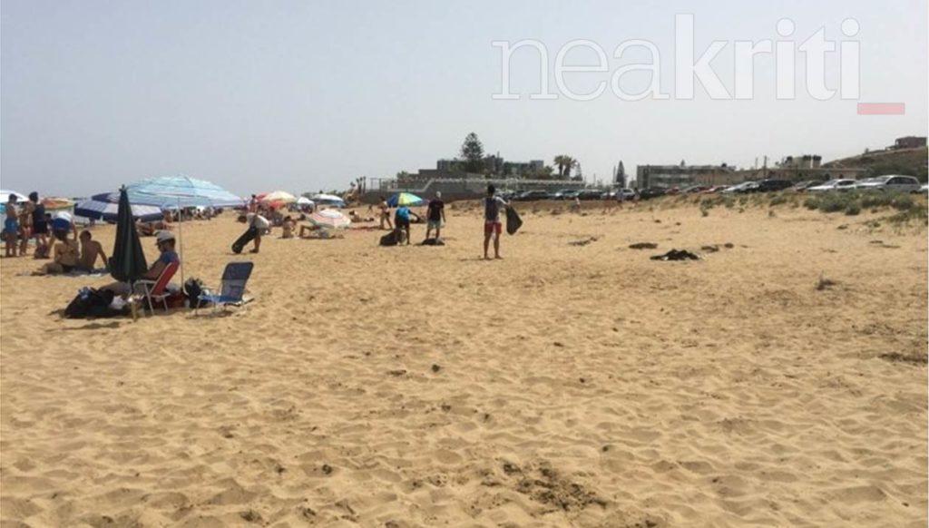 «Βούλιαξαν» κι οι παραλίες της Κρήτης