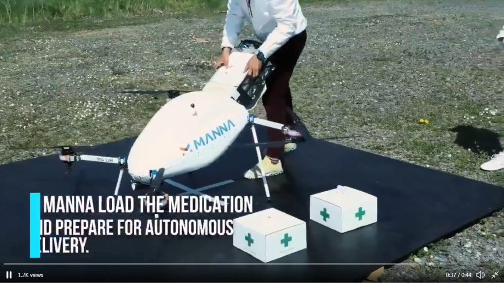 Ιρλανδία-Kορονοϊός: Ο πρώτος διανομέας τροφίμων και φαρμάκων με drone (Video)