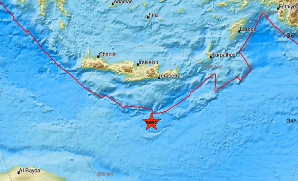 Νέος σεισμός αισθητός στην Κρήτη