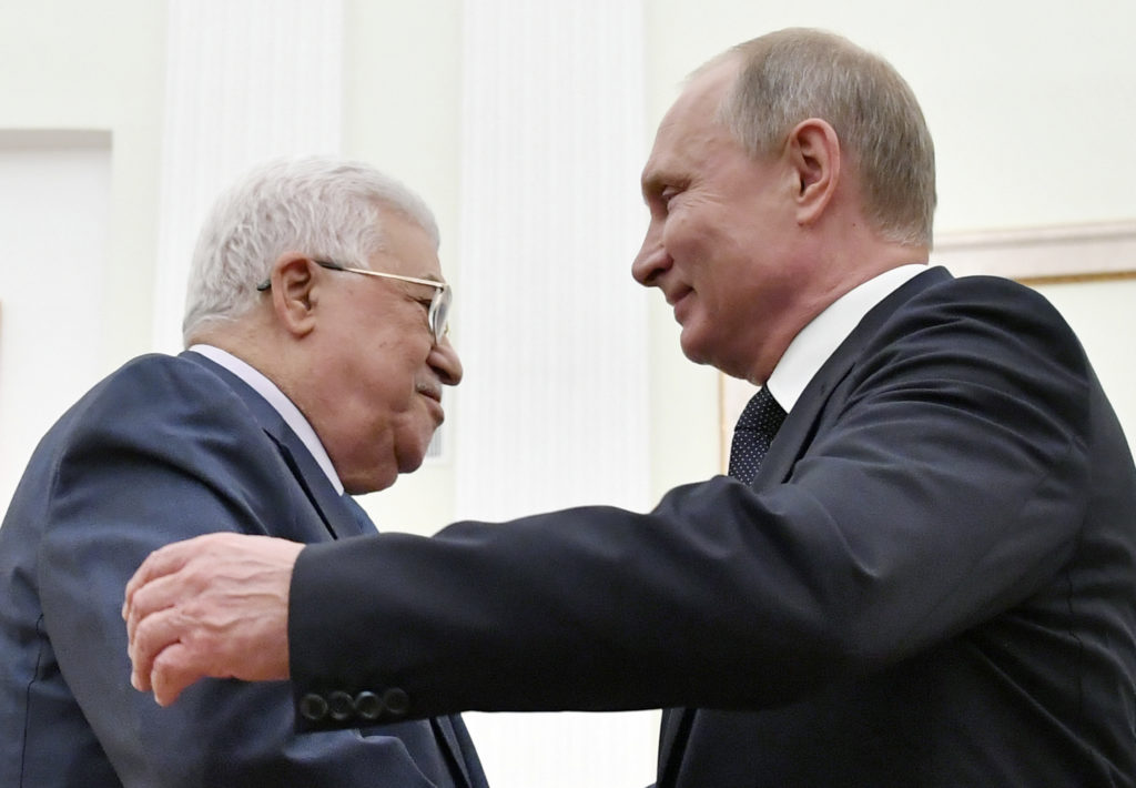 Παλαιστίνη : Ο Αμπάς ζήτησε από τον Πούτιν να διοργανώσει στη Μόσχα διεθνή διάσκεψη για το Μεσανατολικό