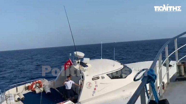 Βίντεο ντοκουμέντο: Επί τέσσερις ώρες τουρκικό σκάφος προκαλούσε Έλληνες ψαράδες και Frontex
