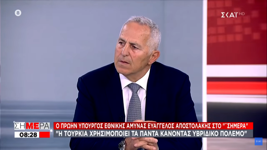 Αποστολάκης:Επιμένω σε ισοπέδωση αν ανέβουν Τούρκοι σε βραχονησίδα (Video)