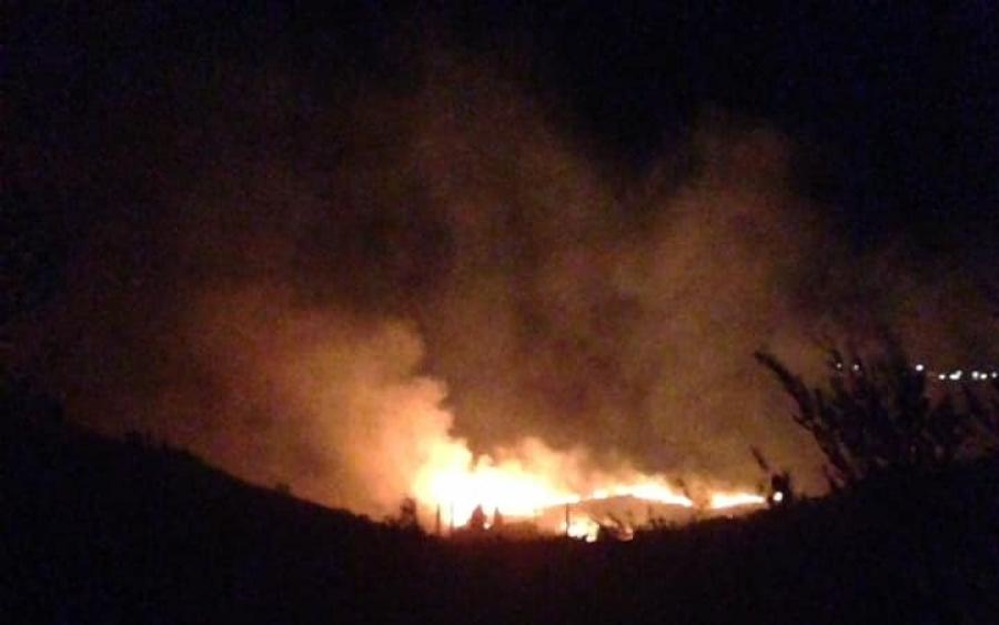 Νύχτα τρόμου από τη φωτιά στην Κεφαλονιά