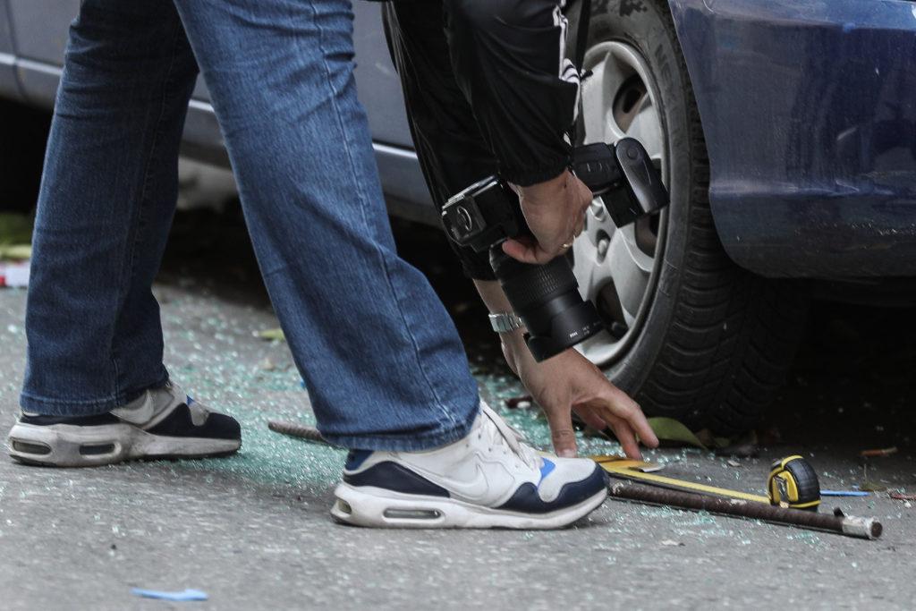 Πυροβολισμοί στην Αγίου Μελετίου – Ένας τραυματίας (Photos)