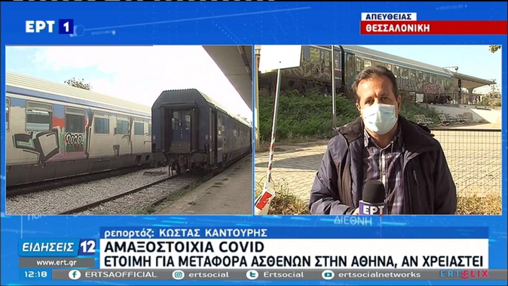 Θεσσαλονίκη: Ετοιμη αμαξοστοιχία του ΟΣΕ να μεταφέρει ασθενείς με κορονοϊό στην Αθήνα