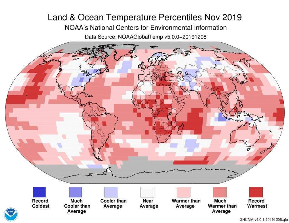 Νοέμβριος του 2019, ο δεύτερος θερμότερος Νοέμβριος των τελευταίων 140 ετών