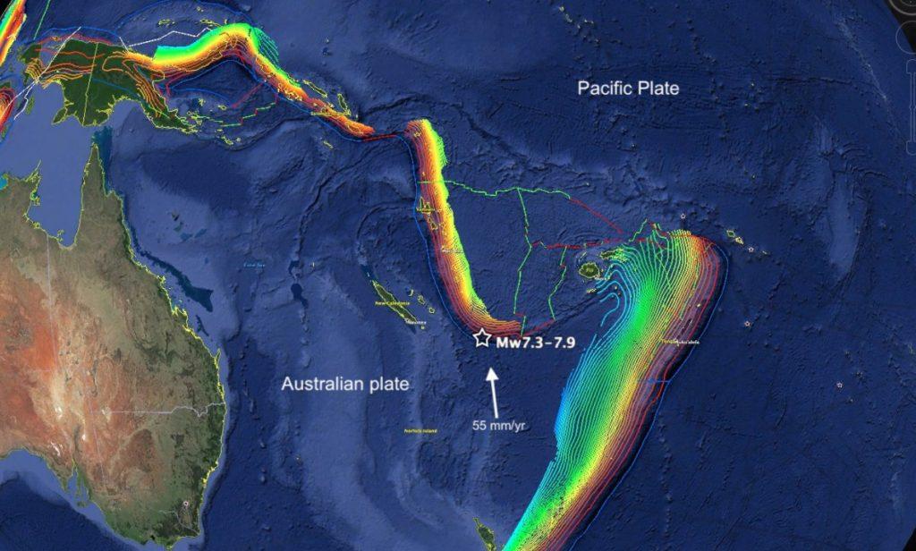 Σεισμός 7,5 βαθμών ανοικτά της Νέας Καληδονίας – Προειδοποίηση για τσουνάμι