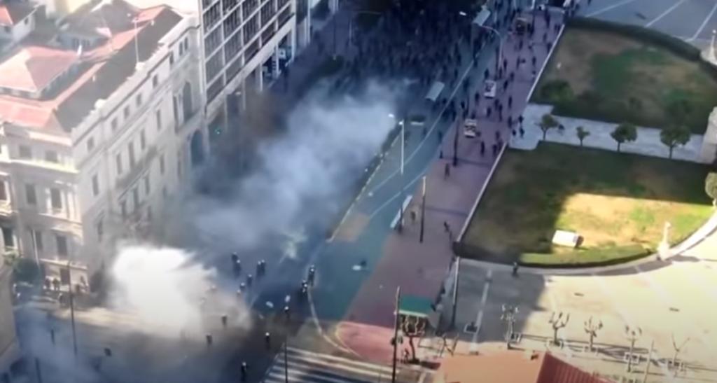 Πανεκπαιδευτικό συλλαλητήριο: Το βίντεο από το drone που «καίει» την ΕΛ.ΑΣ