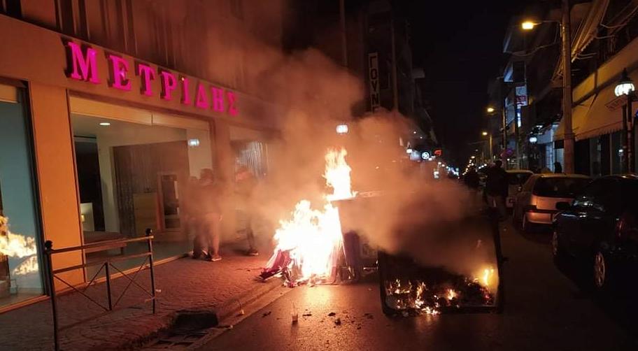 Νίκαια: Ρίψη χημικών και κρότου λάμψης μετά την πορεία κατά της αστυνομικής βίας