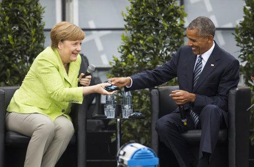 «Αποθέωση» για τον Ομπάμα στο Βερολίνο – Συνάντηση με Μέρκελ (Video+Photos)