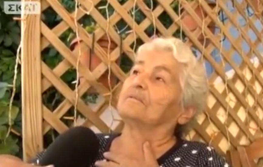 """90χρονη απειλεί με… μαγκούρα τους """"εχθρούς"""" του Τσίπρα (και αποστομώνει τον ΣΚΑΪ)- (Video)"""