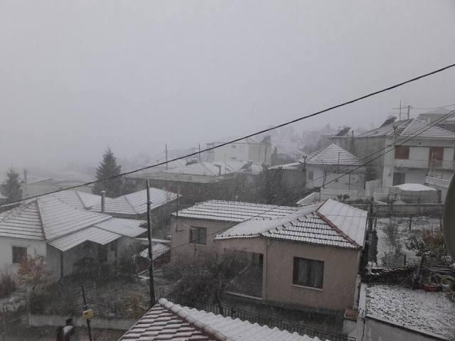 Πυκνό χιόνι στο Πήλιο – Στα λευκά Ζαγορά, Τσαγκαράδα και Μηλιές