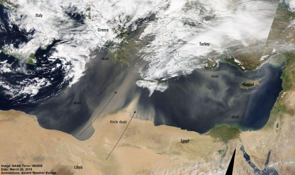 Πως είδε ο δορυφόρος της NASA την αφρικανική σκόνη (Photos)