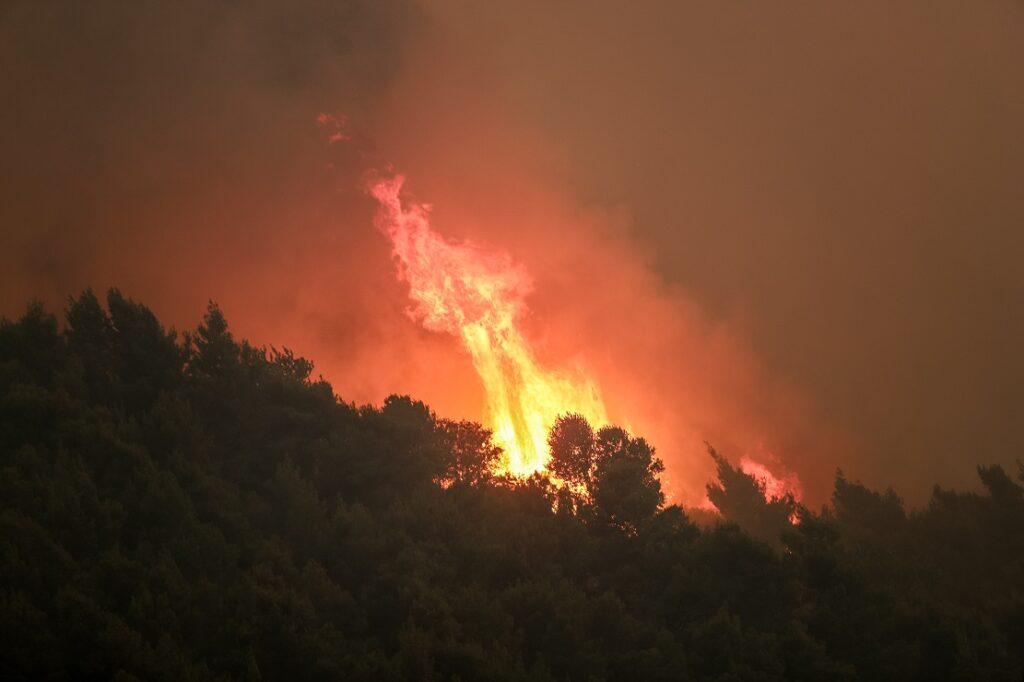 Μαίνεται το πύρινο μέτωπο στα Γεράνεια Όρη – Νύχτα αγωνίας για τους κατοίκους (Photos & Videos)