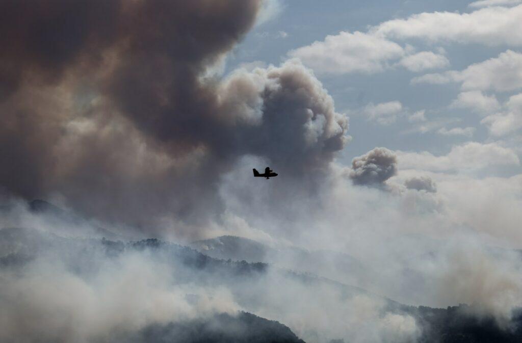 Φωτιά στον Σχίνο: Για δύσκολη βραδιά έκανε λόγο ο Χαρδαλιάς – Τι είπε για το «112»